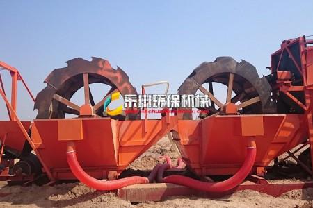 乐川环保新型洗砂机排放污口
